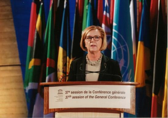 Foto: Maria Arnholm, Sveriges jämställdhets- och biträdande utbildningsminister.