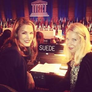 Julia Lodén (till höger) tillsammans med kollegan Frida Gustafsson.