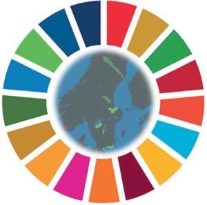 Logo för biosfärprogrammet och Agenda 2030