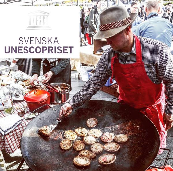 Bild från Stortorget under Unesconätverket Creative Cities årsmöte i Östersund 2016