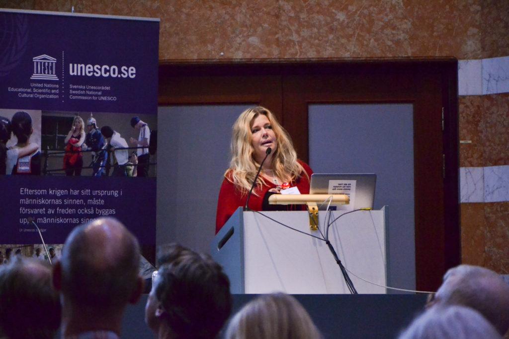 Eva Friman talar vid Svenska Unescorådets årliga möte den 16 mars