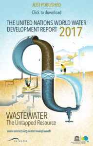Bild på rapporten The united nations world water developement report 2017s framsida