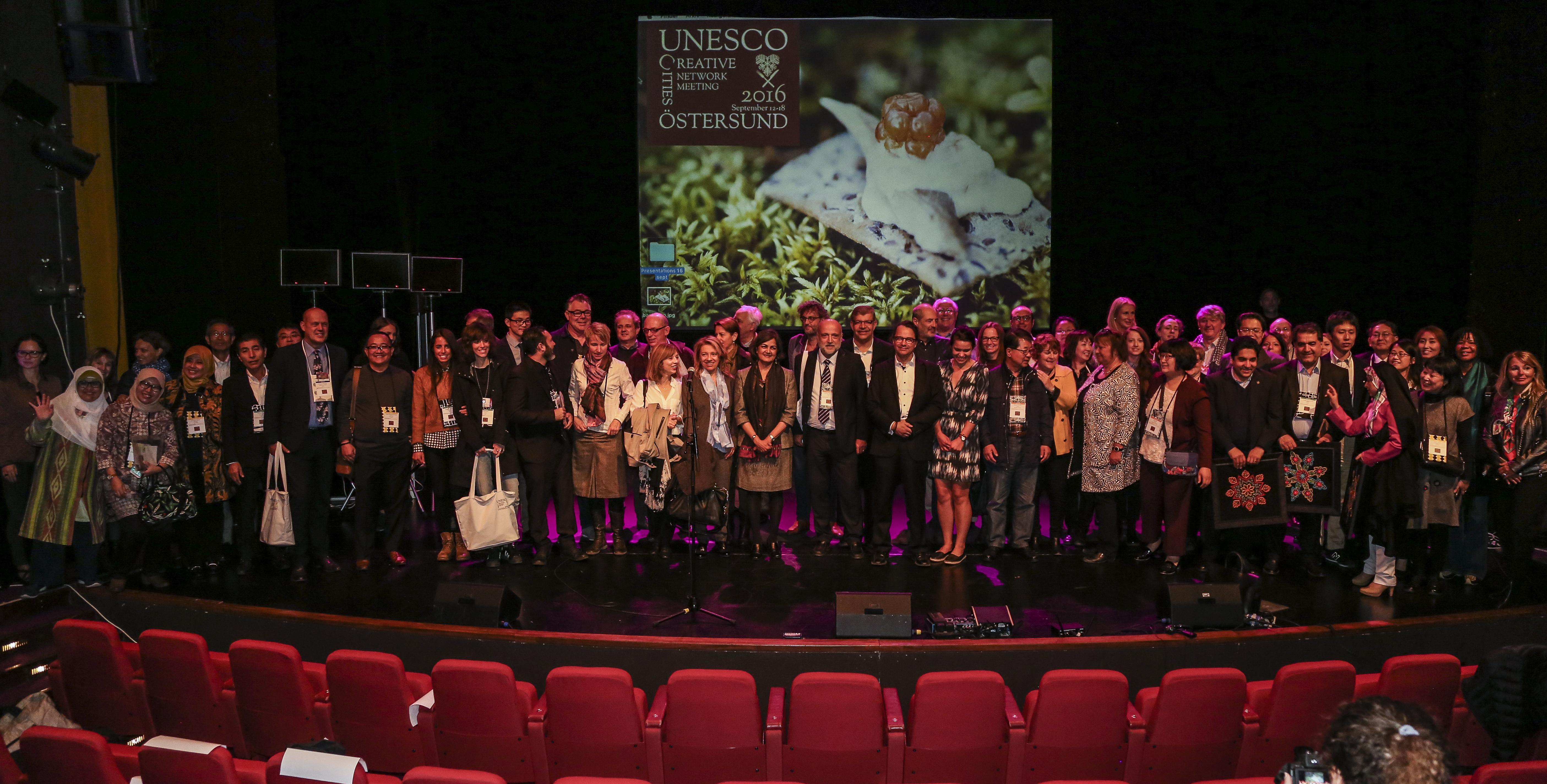 Bild från 2016 då Östersund och Region Jämtland Härjedalen arrangerade UCCN:s årsmöte, som resulterade i mycket internationell uppskattning
