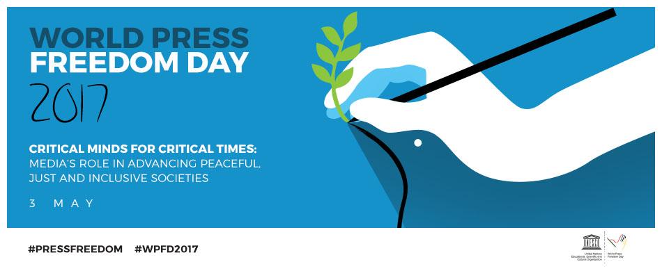 Pressbild för world press freedom day.