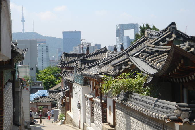 Gata i asiatisk storstad